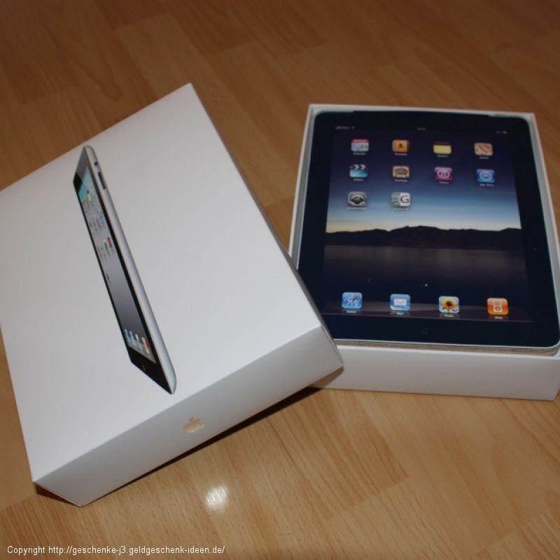 Geldgeschenk für ein iPad oder Tablet