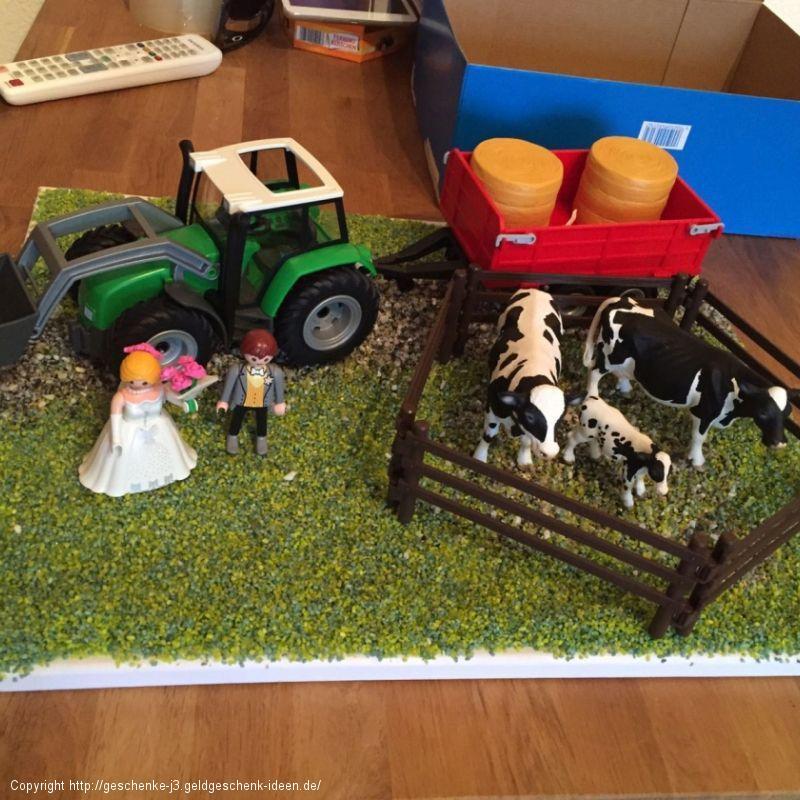 Geldgeschenk zur Hochzeit an einen Landwirt