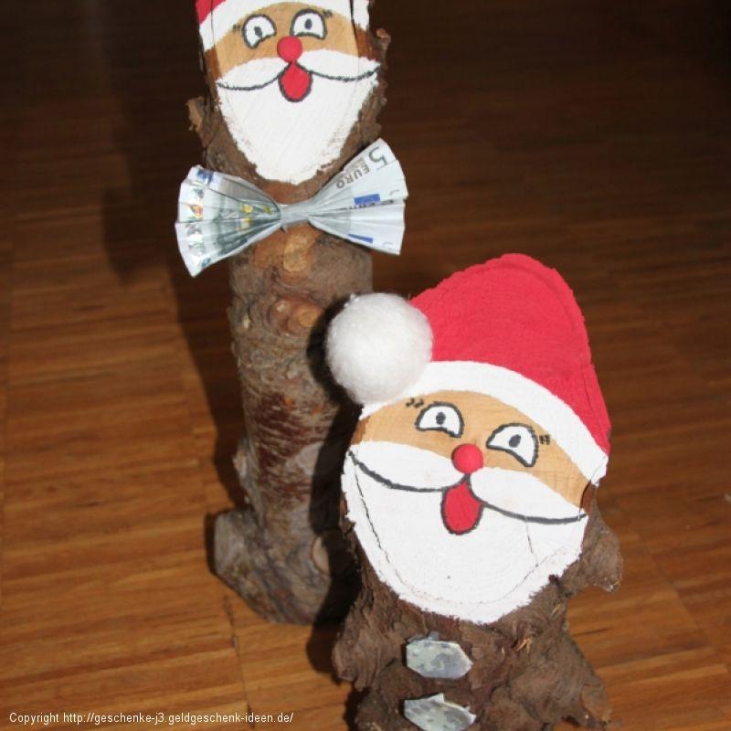 Baumstamm Weihnachtsmann/ Nikolaus