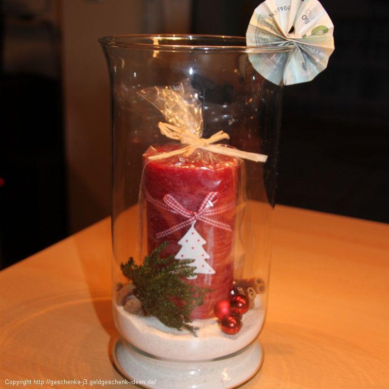 Weihnachtskerze im Glas