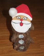 Baumstamm Weihnachtsmann