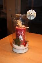 Geldgeschenk - Weihnachtskerze in der Vase
