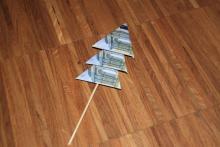 Geldtanne falten
