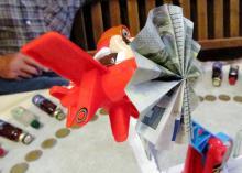 Geldgeschenk Looping Louie - Louies Propeller